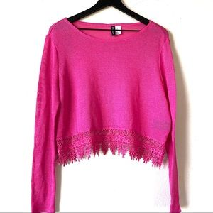 Women's H&M Cropped Lace Top